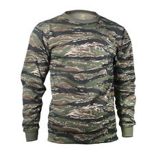 Long Sleeve Tiger Stripe Camo T-Shirt by Rothco - Poly Cotton - FREE SHIPPING