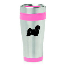 Stainless Steel Insulated 16oz Travel Mug Coffee Cup Havanese