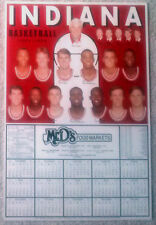 INDIANA UNIVERSITY HOOSIERS 1994-95 MEN'S BASKETBALL POSTER/SCHEDULE