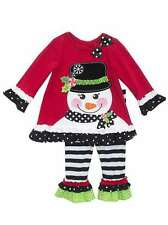 Rare Editions Snowman Holiday Christmas Outfit Pageant Boutique Sz 12 months -6x