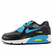 Nike Air Max 90 Mesh GS [724824-004] NSW Running Black/Blue Lagoon-Grey