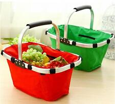 NEW Collapsible Vegetable/Fruit/Fast food Market Tote Basket Bag Camping Picnic