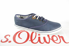 s.Oliver Women's Lace-up Shoes Trainers Sneakers blue, Rubber sole NEW