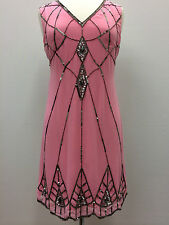 BNWT Gatsby PINK Dress Tunic Top Evening 1920's Shift dress Size 8 10 12 14