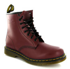 MENS DM DR MARTENS LEATHER 1460 CHERRY RED 8 EYE LACE CASUAL SMART BOOTS UK 6-13