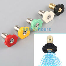 Set of 5 Quick Connect High Pressure Spray Nozzles Pressure Washer Nozzle Set