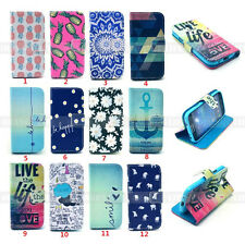 For Samsung Galaxy S4 mini i9190 PU Leather Case Wallet Flip Stand Pouch Cover