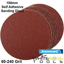 Silverline 10pc Self Adhesive Sanding Discs 150mm 60-120 Grit Sand Paper