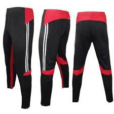 Mens Zipper Compression Soccer Training Long Pants Athletic Casual Trousers
