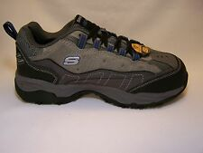 76785 Gray Charcoal Skechers Mens Work  Canyon - Hobby Steel Toe GYCC