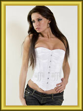 Overbust corset corset in Satin white Size 34~56