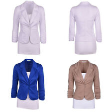 Fashion Women Casual Slim Single Breasted Button Suit Blazer Coat Jacket Tops
