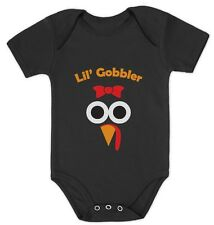 Cute Lil' Gobbler Girly Turkey Face - Funny Thanksgiving Baby Onesie Gift Idea