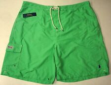 NWT $69 Polo Ralph Lauren Swim Board Shorts Suit Trunks Mens 3XB Green NEW