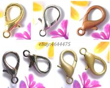 100pcs 10/12/14MM Golden/Silver/Copper/Black/Bronze lobster clasps hooks