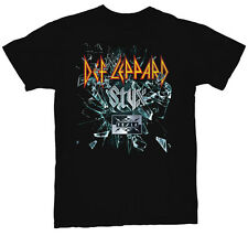 Def Leppard Styx Tesla 2015 Tour 2-Sided Men's Black TShirt NEW S M L XL XXL 3XL