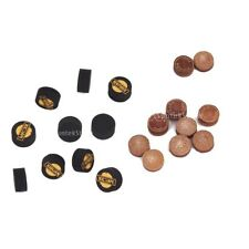 lot 10PCs Glue On Layered Leather SNOOKER / BILLIARD POOL Cues Tips - 11mm, 14mm