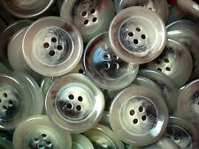23mm 36L Opaque Grey Swirl Patterned Large 4 Hole Quality Coat Buttons (Z231)