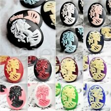 Resin 18x13/25x18/40x30mm Cabochon flatback wholesale Skull fit Cabochon Setting