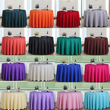 Multi Color Durable Dining Hotel Restaurant Round Tablecloth In Various Sizes