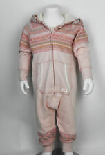 Ex Next Baby Girls Fleece Hooded Pink Printed 9/12 mths - 5yr