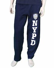 NYPD Mens Sweatpants Training Pants Licensed Police Navy Blue New York Police