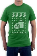 Ugly Christmas Sweater Xmas Stocking & Presents T-Shirt Holiday Apparel