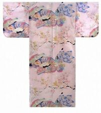Woman's KIMONO(dynasty in cherry blossoms) with OBI Authentic JAPAN SLK900