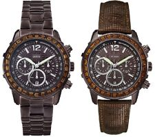 Guess Lady B Brown Dial Ladies Watch Leather Stainless Steel