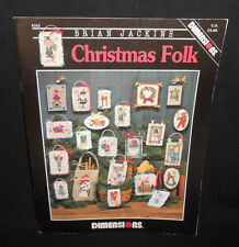 Dimensions CHRISTMAS FOLK Cross Stitch Chart Leaflet 22 Brian Jackins Santa 243