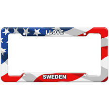 American Flag License Plate Frame I Love Country Sa-Tu