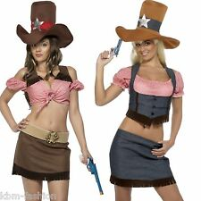 Womans Teens Ladies Cowgirl Fancy Dress Costume Wild West 12-14 16-18 Halloween