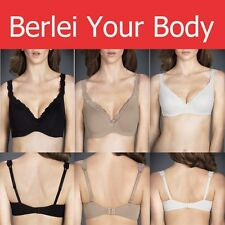 BERLEI BARELY THERE LUXE LACE CONTOUR Sexy BRA Black Ivory Mocha Y296T *SALE* ON