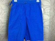 Boys royal blue Faded Glory shorts elastic soft waistband S, M, L or XL  pockets