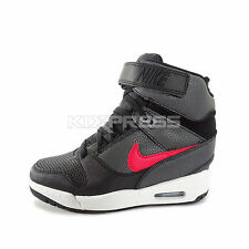 WMNS Nike Air Revolution Sky Hi [599410-020] NSW Casual Wedge Black/Red-White