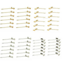 12x Clasp and Cord Ends w. Extension Chain & Lobster Clasp for Jewelry Findings