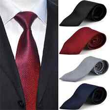 Charm Mens Classic Tie Woven Silk Suits Ties Solid Plain Necktie Party Wedding F