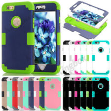 New Hybrid Heavy Duty Shockproof Glossy Matte Hard Case Cover For iPhone Series