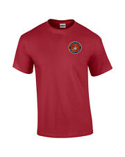 US Marine Corps Logo EMBROIDERED Red T Shirt *New* USMC
