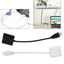 PC HDMI to VGA SVGA RGB Video +Audio Cable Converter Adapter For XBOX TV PS3