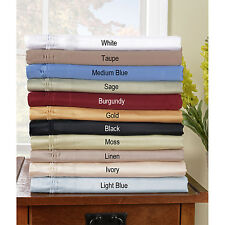 UK KING SIZE ALL SOLID BED SET-SHEET SET/DUVET/FITTED 1000TC EGYPTIAN COTTON