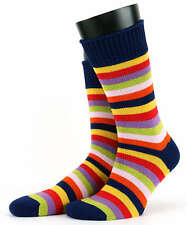Mens Corgi 100% Soft Cotton Bold Stripe Socks