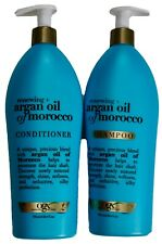 Ogx Premium Argan Oil Morocco Renewing Shampoo Conditioner Sulfate-Free, 25.4 oz