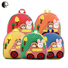 Cute Kids School Bags Cartoon Animal Canvas Backpack Baby Toddler Book Bag