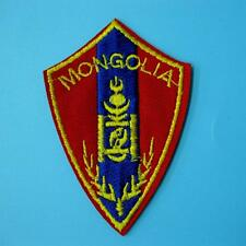 1 Mongolia Flag Iron on Sew Patch Applique Badge Embroidered Biker Applique Cute