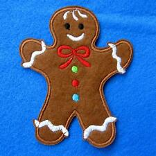 Gingerbread Man Iron on Sew Patch Applique Badge Embroidered Biker Applique Cute