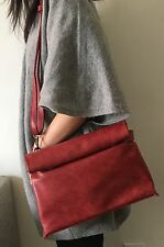 Good Quality Soft Black or Red Crossbody Shoulder Flap Bag Faux Leather Clutches