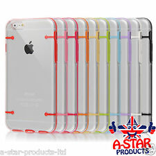 NEW! CLEAR HARD Back Silicone TPU Bumper Case Cover For Apple iPhone 6