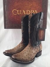 mens CUADRA PRO RODEO genuine OSTRICH COWBOY BOOT *ALL SIZES* avestruz