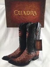 NEW! mens CUADRA OSTRICH COWBOY BOOT CHIHUAHUA STYLE  *ALL SIZES  bota avestruz